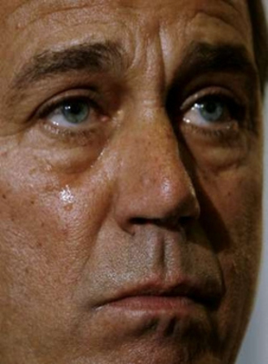 Boehner's Folly: Are these the tears of the Crocodile, the Wimp, or the Buffoon?