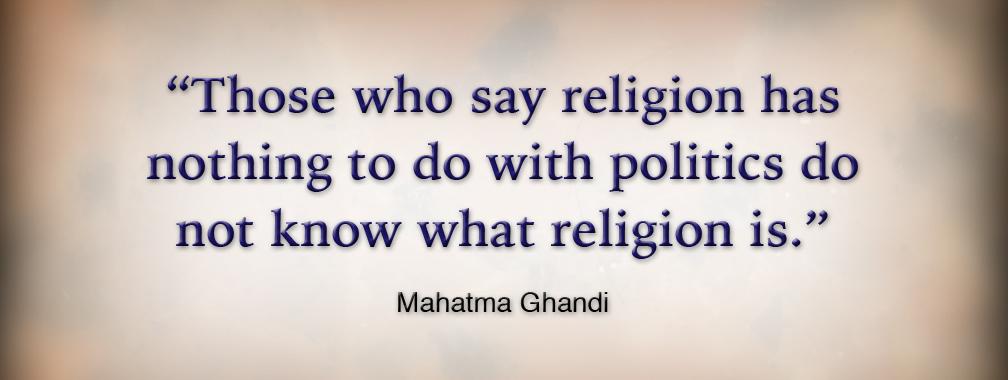 essay on politics and religion