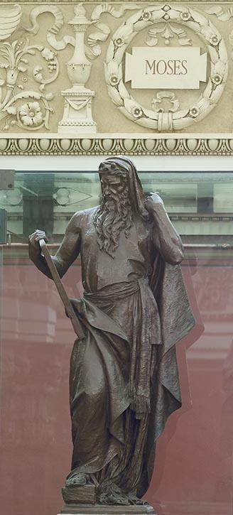 Moses with Commandments, Rotunda of Library of Congress
