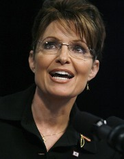Sarah Palin, who loves God, loves the Constitution, loves guns, loves the flag and makes no bones about it.