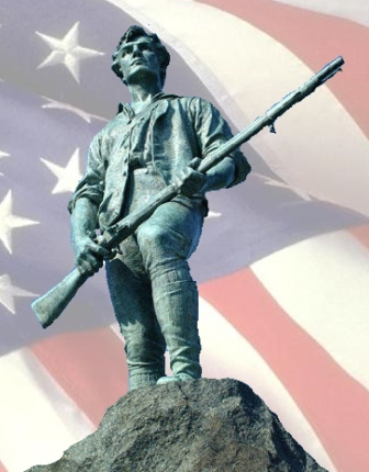 Note the Military Assault Rifle common to the American Founding Era.