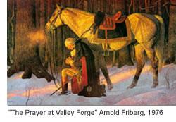 Praying Washington, in US Capital