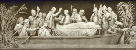 Frieze of Desoto Burial in Mississipi River, in US Capital building