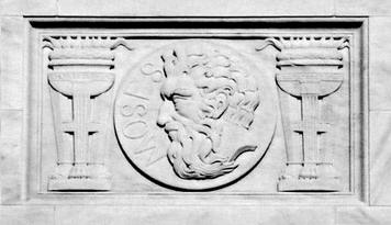 Moses Law Giver on West exterior facade of Supreme Court building