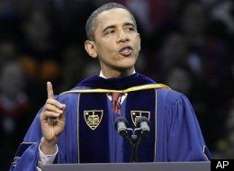Comrade Obama, peace be upon him, as honored speaker at Notre Dame, spiking the football for Alinsky's conquest of so many grass-roots Catholics. This was a behind-the-scenes victory celebration for all the Priests who worked so hard to advance the Marxist and Democrat Party cause to this point.